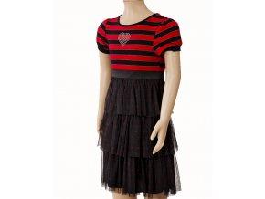 Dollie me dívčí šaty černočervené
