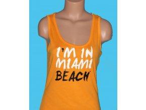 CHICOREE dámské tričko oranžové