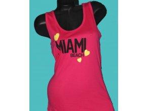CHICOREE dámské tričko/tílko sytě růžové