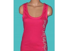 CHICOREE dámské tričko sytě růžové s nápisem
