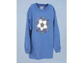 MIS TEE V-US dětské tričko modré s obrázkem míče a s dlouhým rukávem
