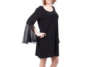 JBS dámské šaty společenské černé s dlouhým rukávem