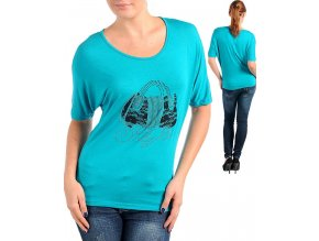 MOA U.S.A. dámské tričko tyrkysové