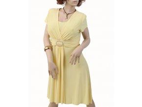 R&M Richards dámské šaty společenské žluté