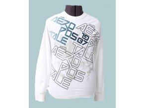 Aéropostale pánské tričko bílé s dlouhým rukávem - KAZ