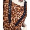 J&D Fashion dámská halenka oranžová leopard