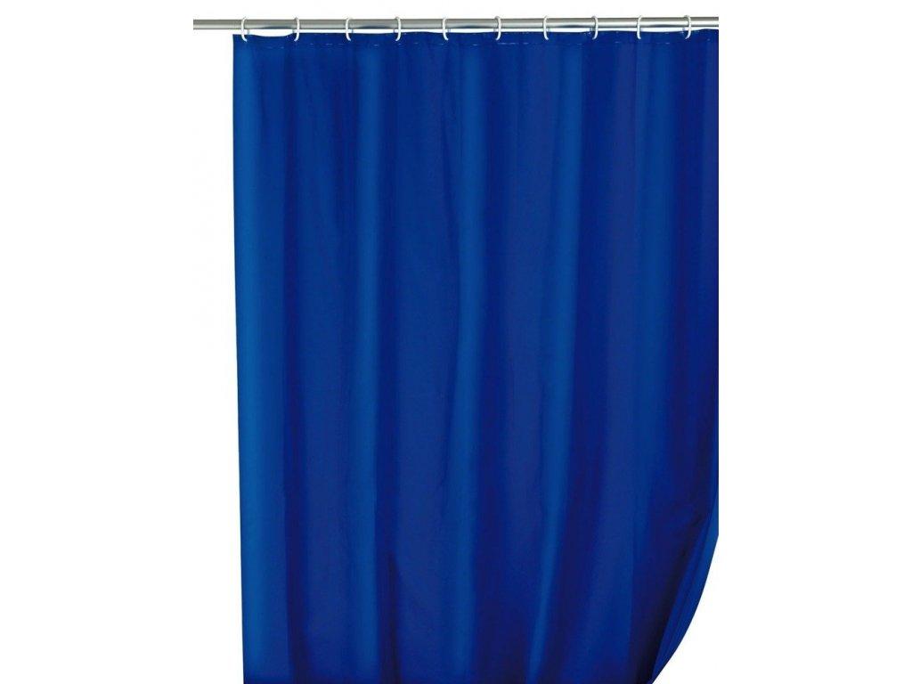 Modrý sprchový závěs PEVA, 180x200 cm