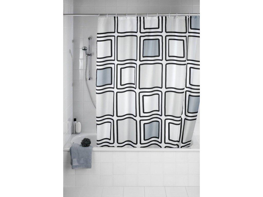 Bílý sprchový závěs MONO, 180x200 cm