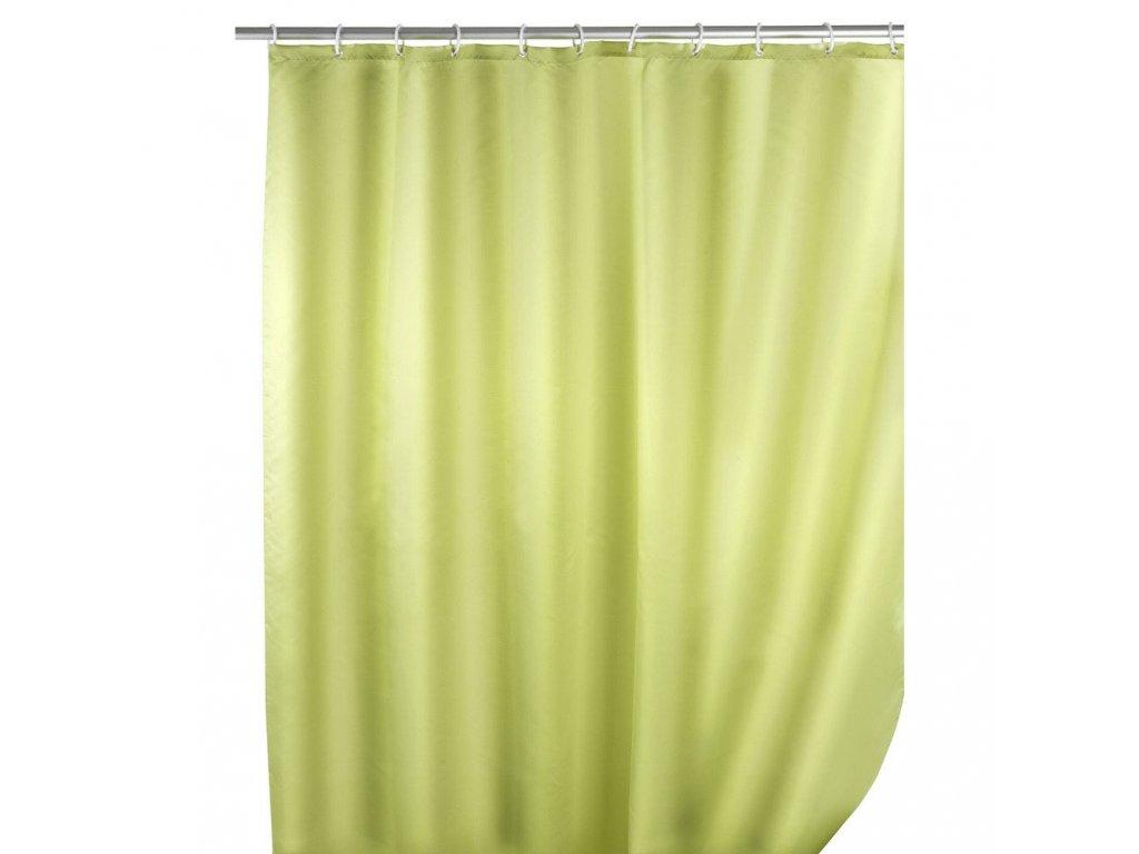Zelený textilní sprchový závěs, 180x200 cm