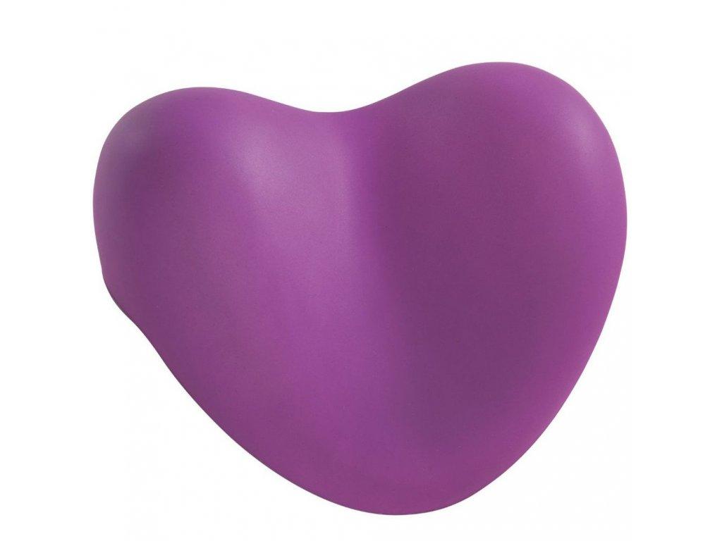 Vanový polštář, fialový, tvar srdce