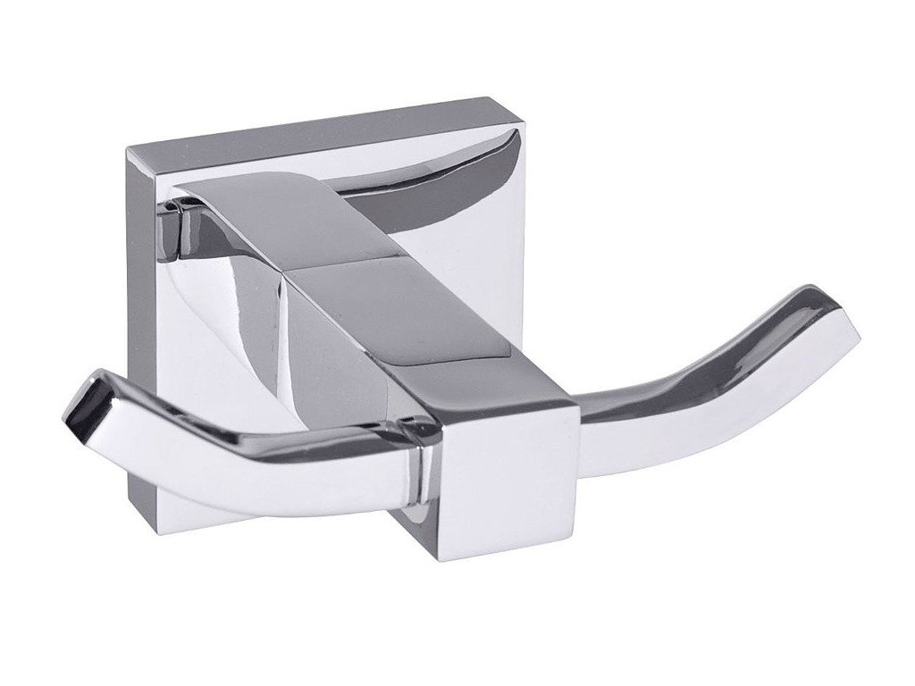 Dvojitý koupelnový háček SEN REMO DUO, chromovaná ocel