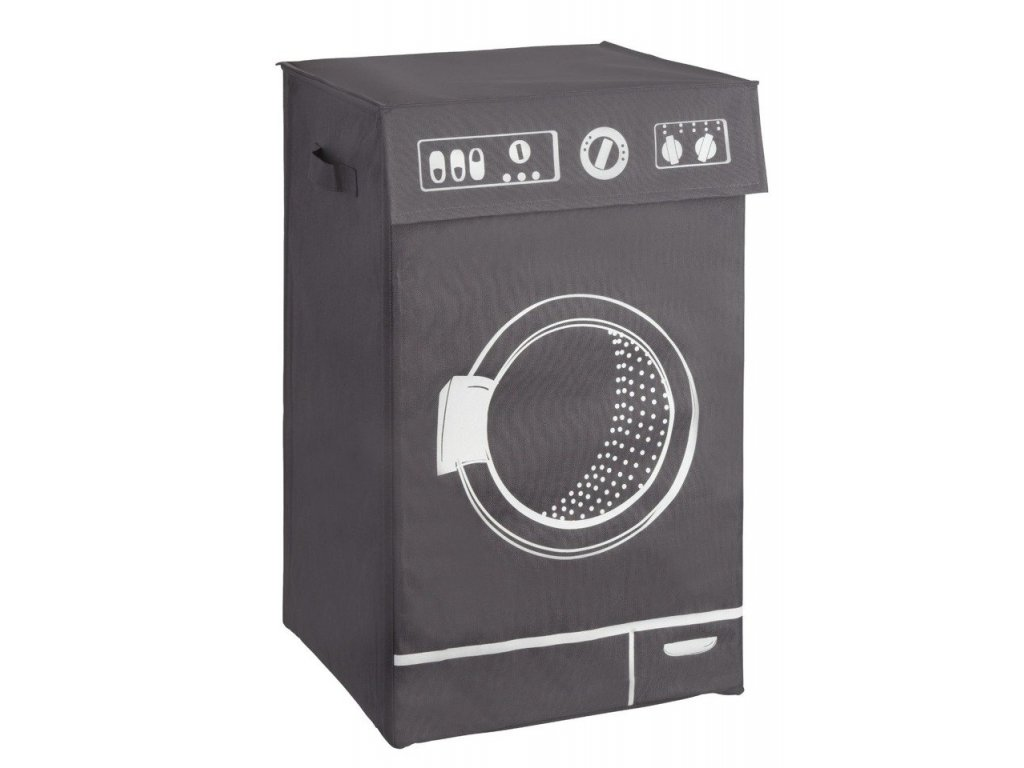 Prádelní koš LAVO GREY, šedý, 77 l