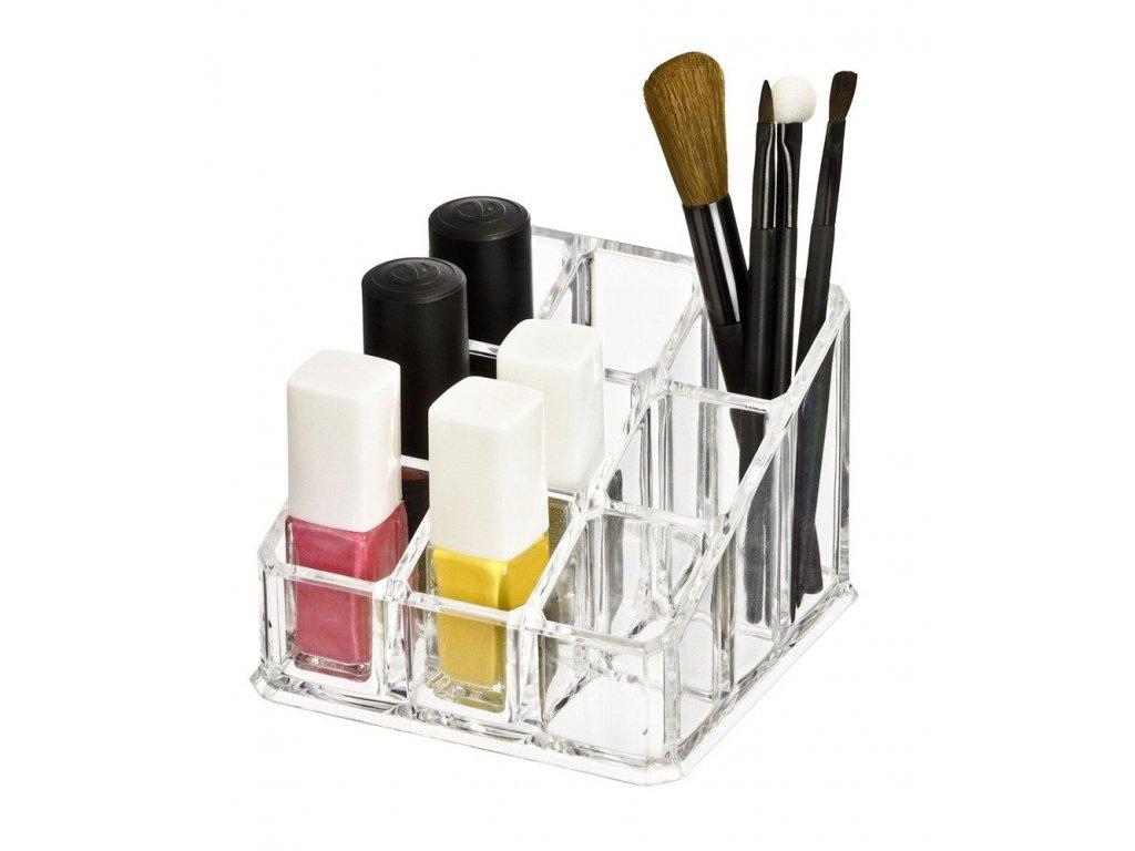 Plastový organizér na kosmetiku - 9 přihrádek