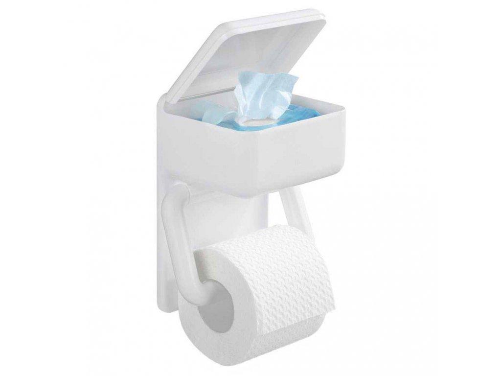 Držák na toaletní papír+ kontejner, 2 v 1