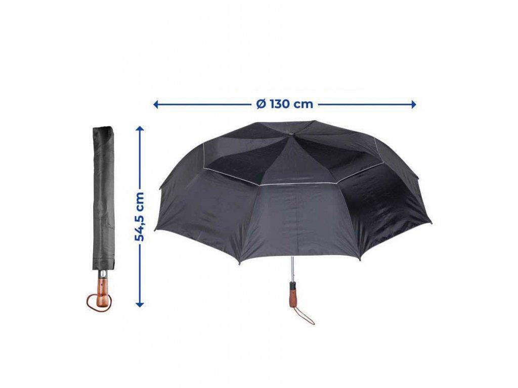 Velký deštník KYRILL XXL, černý