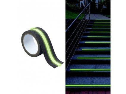 Protiskluzová páska s reflektorem - 2 v 1,300 cm