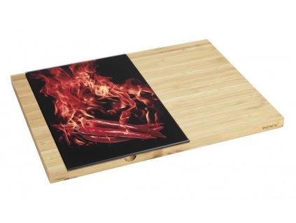 Bambusové prkénko s krájecí deskou, 38 x 28 cm, 19 x 28 cm