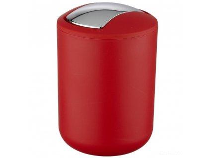 Odpadkový koš do koupelny BRASIL, červený, 2 l