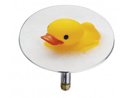 Bílá zátka do vany Pluggy XXL Duck