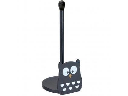 Stojan na kuchyňské utěrmy OWL, černý