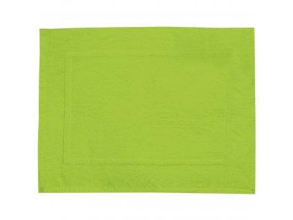 Zelená koupelnová předložka TERRY PARADISE, 70 x 50 cm
