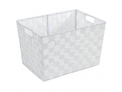 Bílý koupelnový organizér ADRIA WHITE, 35 x 22 cm