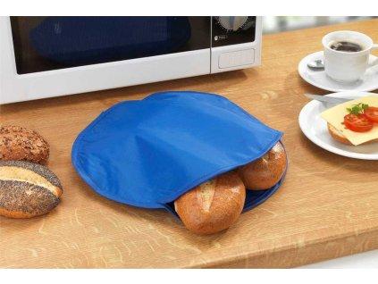 Taška pro rychlé vaření v mikrovlnce v modré barvě,  30 cm
