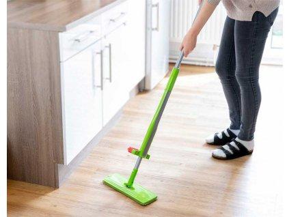 Mop na mytí podlahy, zelená barva