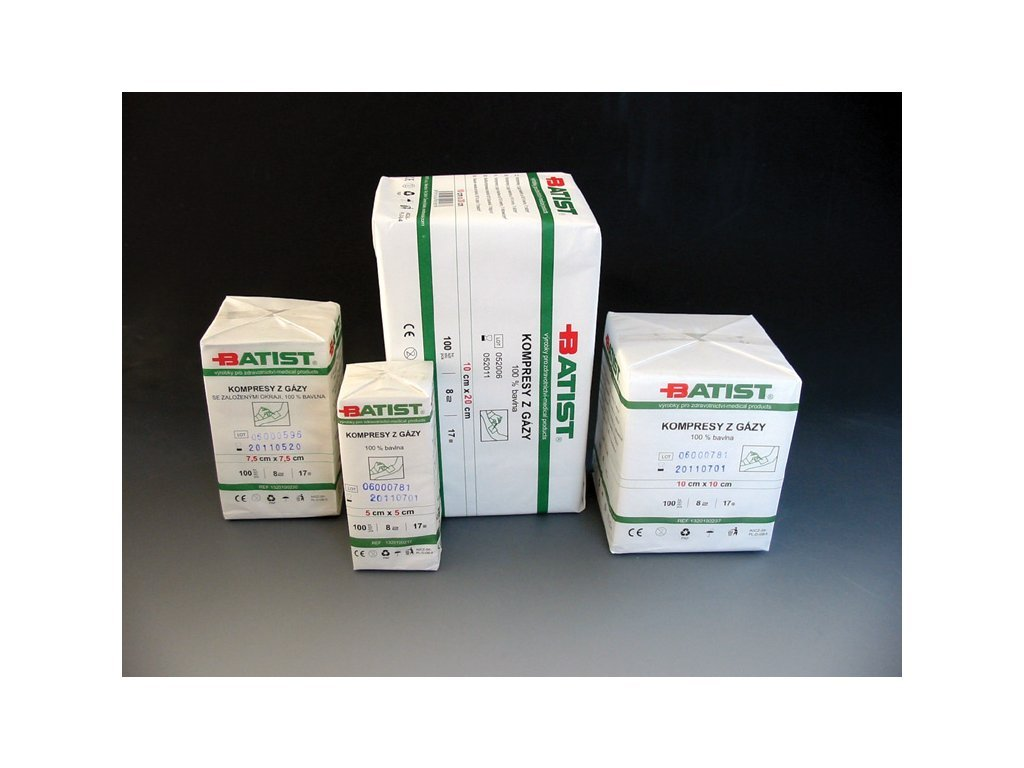 Kompresy z gázy nesterilní  (varianta Kompresy z gázy nesterilní - 5x5cm, 100ks)
