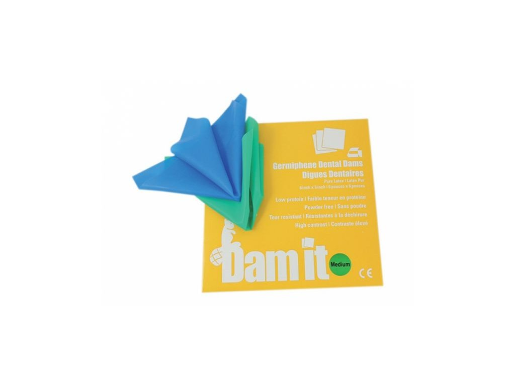 DAM-IT (varianta Kofferdam blány modré, tenké 36 ks)