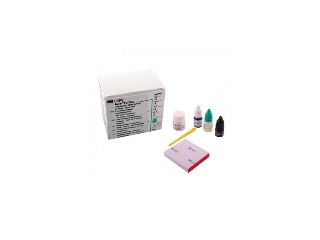 Ketac Fil Plus (varianta Ketac Fil Plus: startovací balení: 10g prášek A3, 10g tekutina,  10ml konditioner, 2,5g lak, podložka)