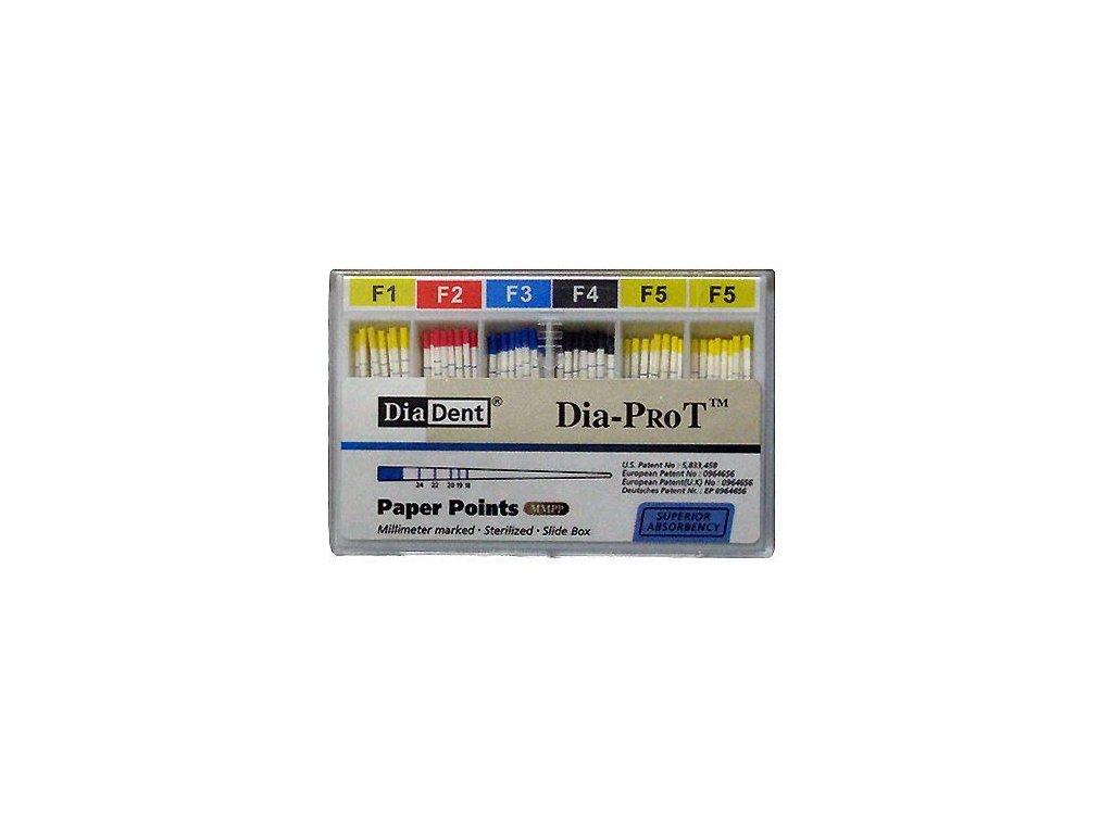 Papírové čepy kalibrované Pro-T (Protaper) (varianta Papírové čepy kalibrované Pro-T: sada: F1-F5)