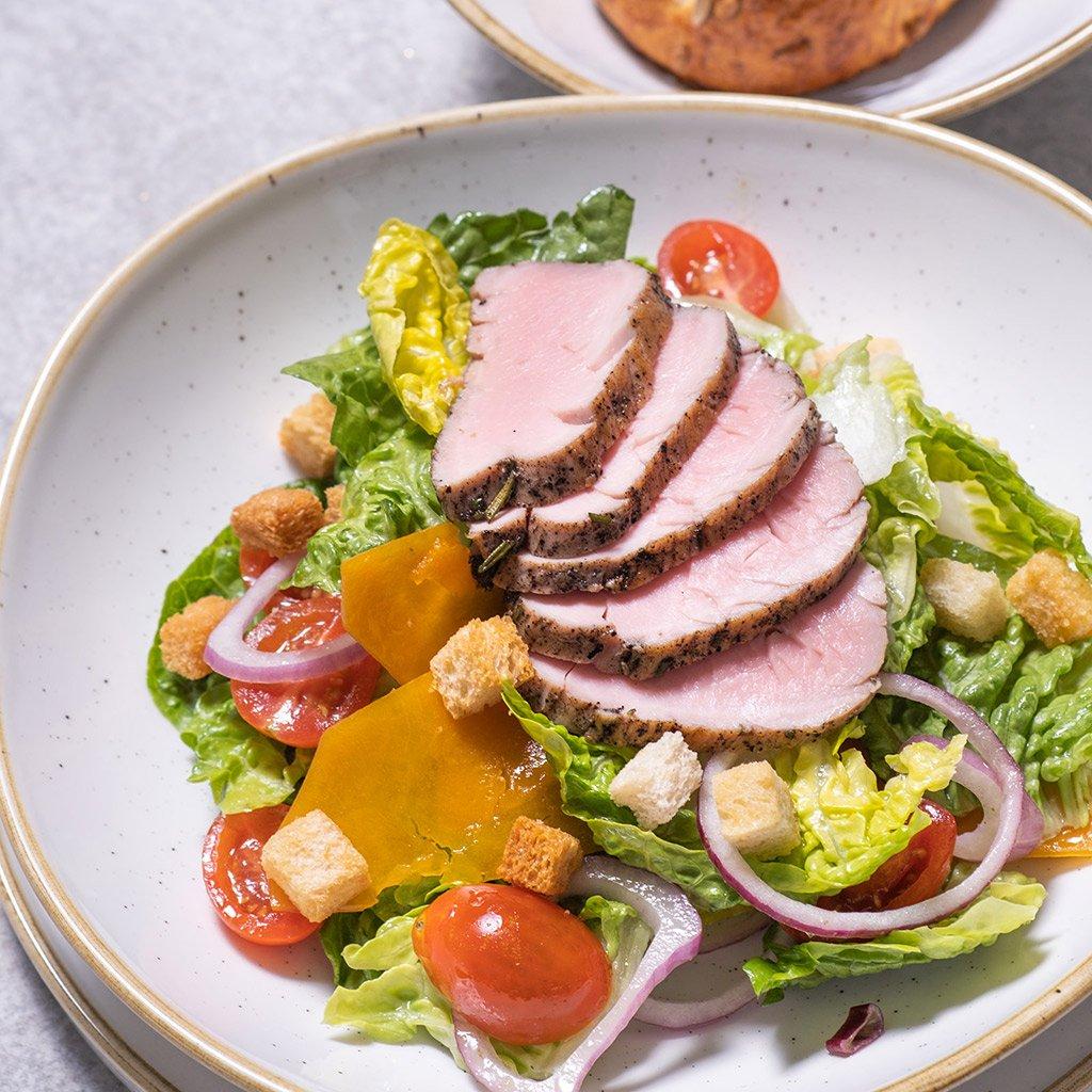 salat s grilovanou panenkou