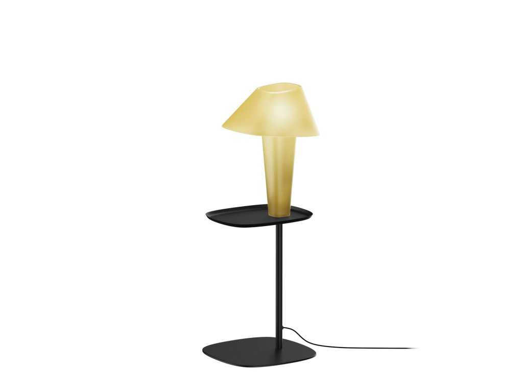 REVER FLOOR 1.0 XS (Varianta Barva: Jantarově Žlutá, Podstavec: Signální Černá, Tělo lampy: Jantarově Žlutá)