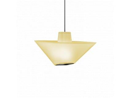 REVER 1.0 (Varianta Barva: Jantarově Žlutá, Kabel: Černý, Podstavec: Signální Černá, Tělo lampy: Jantarově Žlutá)
