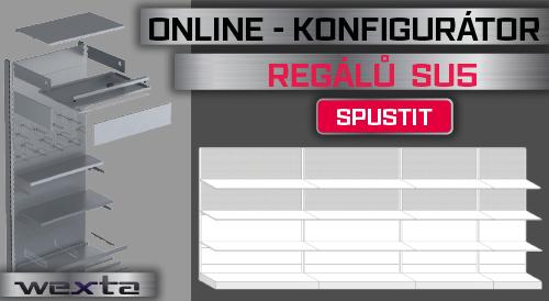 Konfigurátor prodejních regálů SU5_Vybavení obchodů a prodejen | Wexta.cz