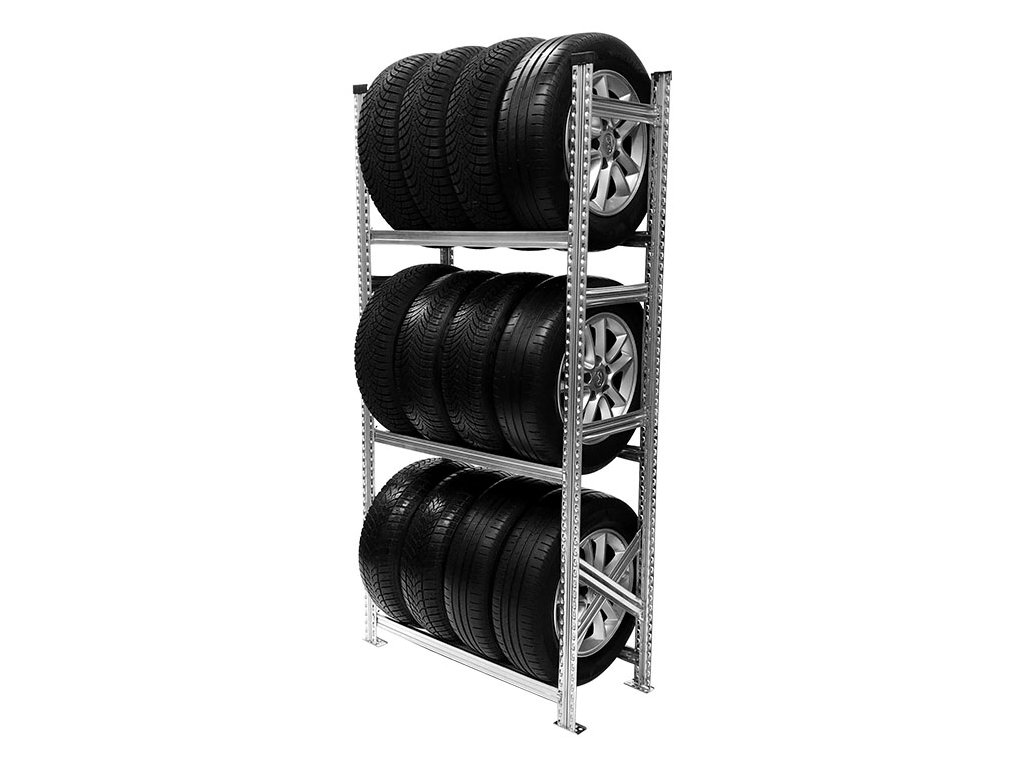Regál na pneumatiky,1972x900x500 mm,3 police,základní