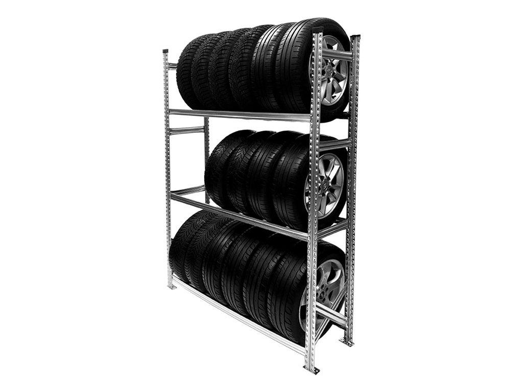 Regál na pneumatiky,1972x1500x500 mm,3 police,základní