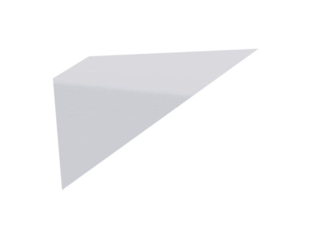 Police skleněná rohová 90° 400 mm