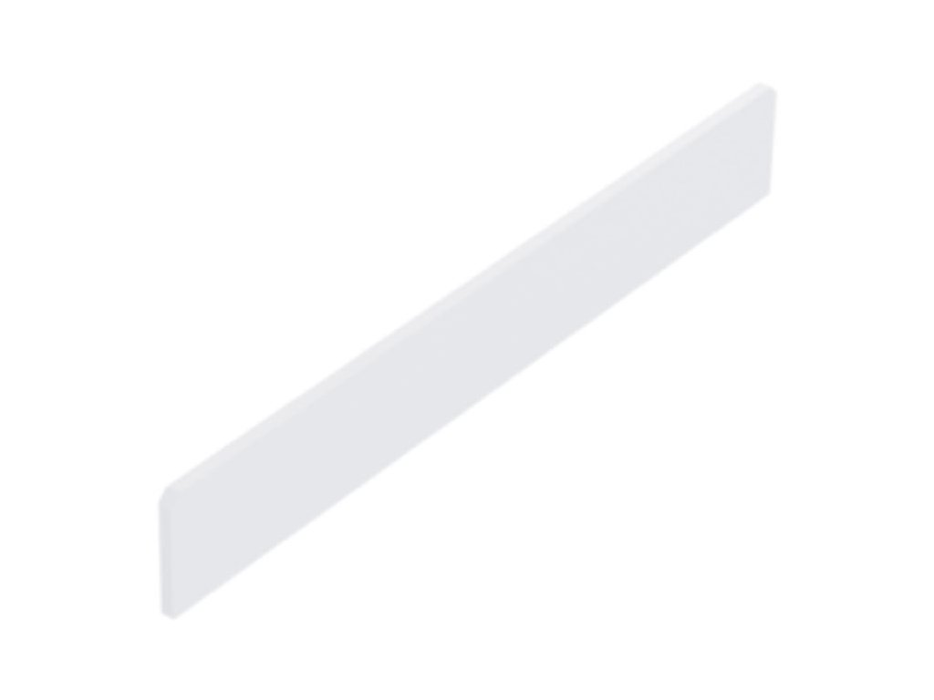 Čelní opěra nízká koutová 90° plast bílý 200x20 mm