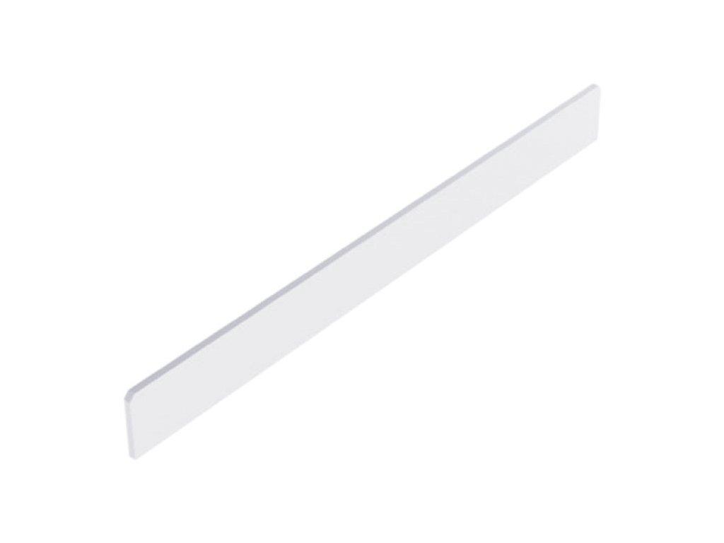 Čelní opěra nízká lichoběžníku plast bílý 300x20 mm