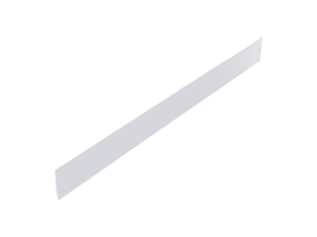 Čelní opěra vysoká plexisklo 625x75 mm