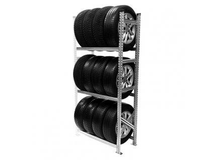 Regál na pneumatiky,1972x900x400 mm,3 police,přídavný