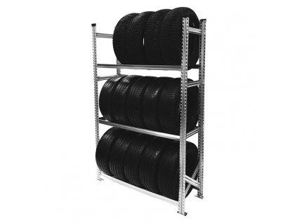 Regál na pneumatiky,1972x1200x500 mm,3 police,základní
