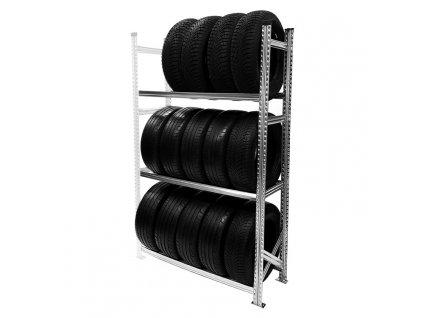 Regál na pneumatiky,1972x1200x500 mm,3 police,přídavný