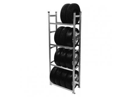 Regál na pneumatiky,2500x900x500 mm,4 police,základní