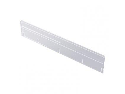 Dělítko nízké plast čirý 400x75 mm