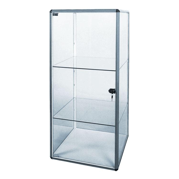 Prosklená vitrína bez soklu se zámkem