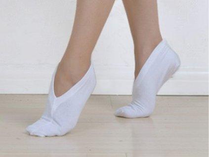 Kosmetické bavlněné ponožky, WHITE ORCHID
