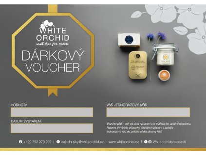 dárkový voucher WHITE ORCHID